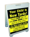 Tardy Sign - Plastic