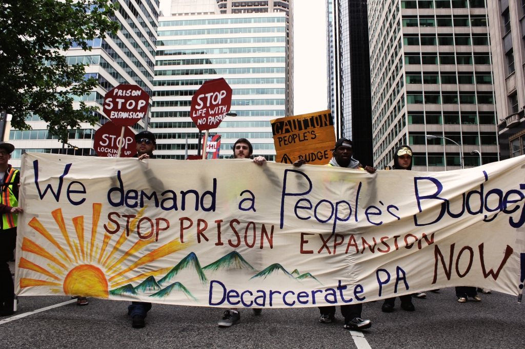Decarcerate PA launches a 113-mile march from Love Park to  Harrisburg. Photo: Dustin Slaughter