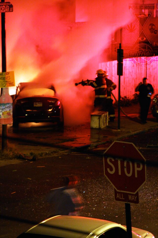 Once on scene firefighters were able to extinguish the blaze in moments. Photo by Kit Friday