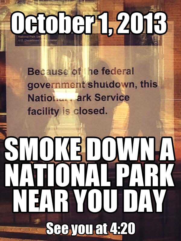 "Shutdown Smokedown announcement ""meme"" posted to facebook"