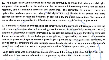 The policy states that the Privacy Committee will liaise with the community