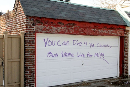Racist, graphic graffiti shakes up Mount Airy