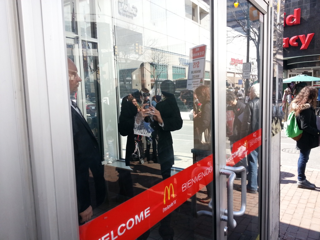 Armed private security inside a Center City McDonald's. Photo: Dustin Slaughter