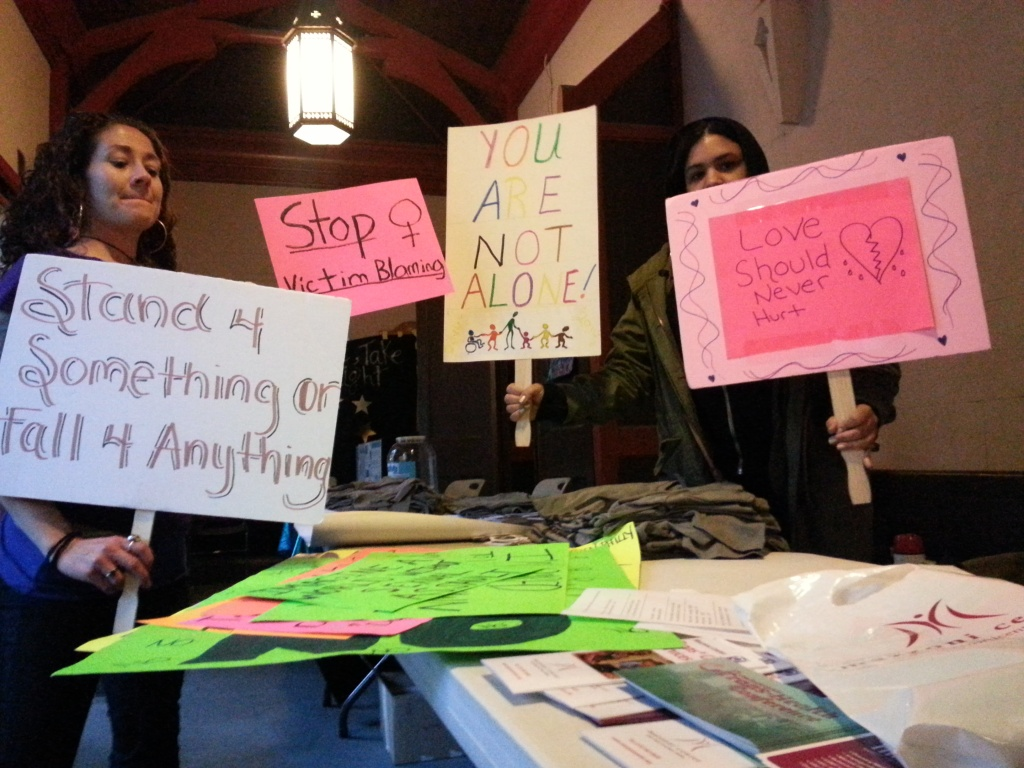 Amanda Gereci (left) has organized Take Back the Night events for four years in Philadelphia.