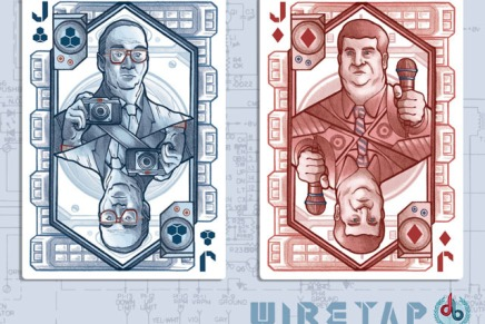 The WIRETAP Deck: Local Illustrator Creates Fine Art Playing Cards with Surveillance Theme