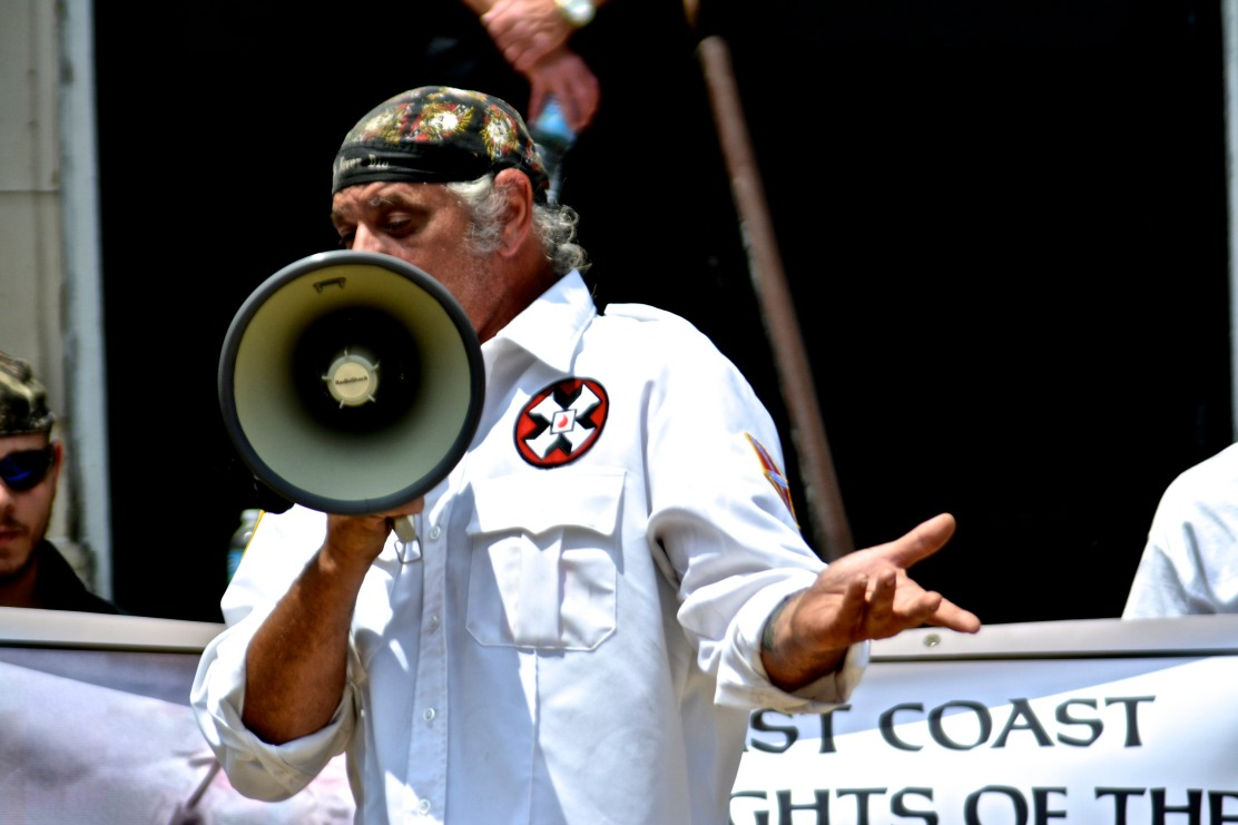 Richard Preston, Imperial Wizard of the Confederate White Knights of the KKK. Photo by Joshua Albert