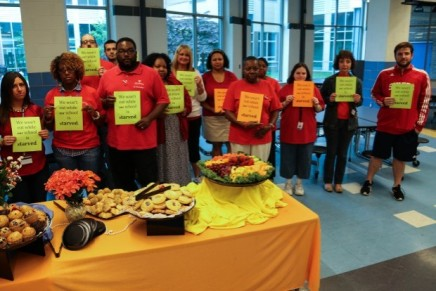 Feltonville teachers protest award: 'We can't eat while our school is starved'