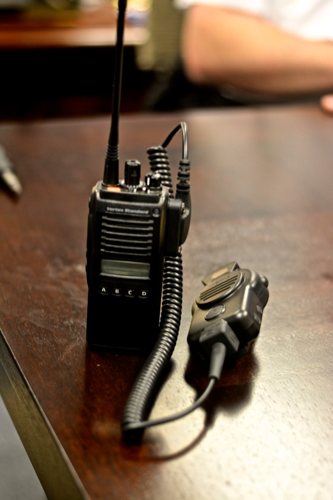 The new body-worn camera and attached walkie-talkie. Photo by Joshua Albert