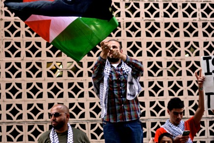 Photos – Philadelphians Protest Military Assault of Gaza Outside Israeli Consulate