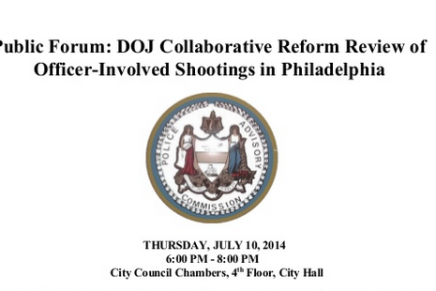 DOJ, Police Advisory Commission to Hold Forum Thursday Night for Public Questions About Philly Police-Involved Shootings