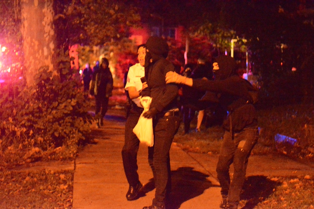 Protester tazed and arrested during march in West Philly (5/6)