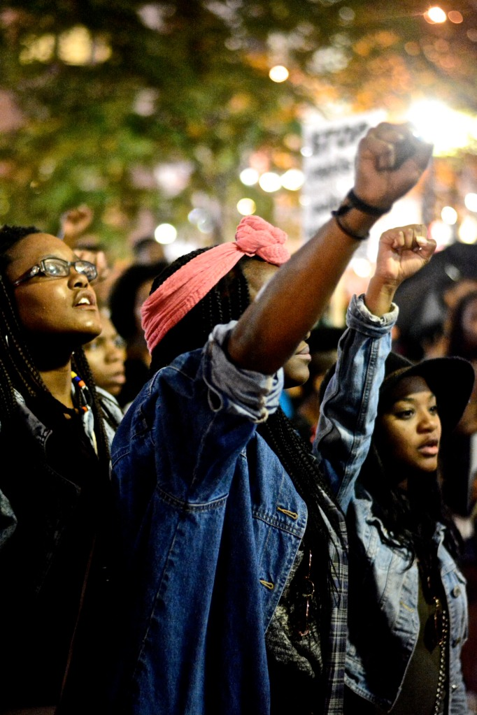 Protesters demand justice for Mike Brown. ( Photo By Joshua Albert)