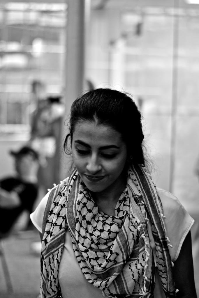 Gaza fundraiser attendee. Photo: Joshua Albert