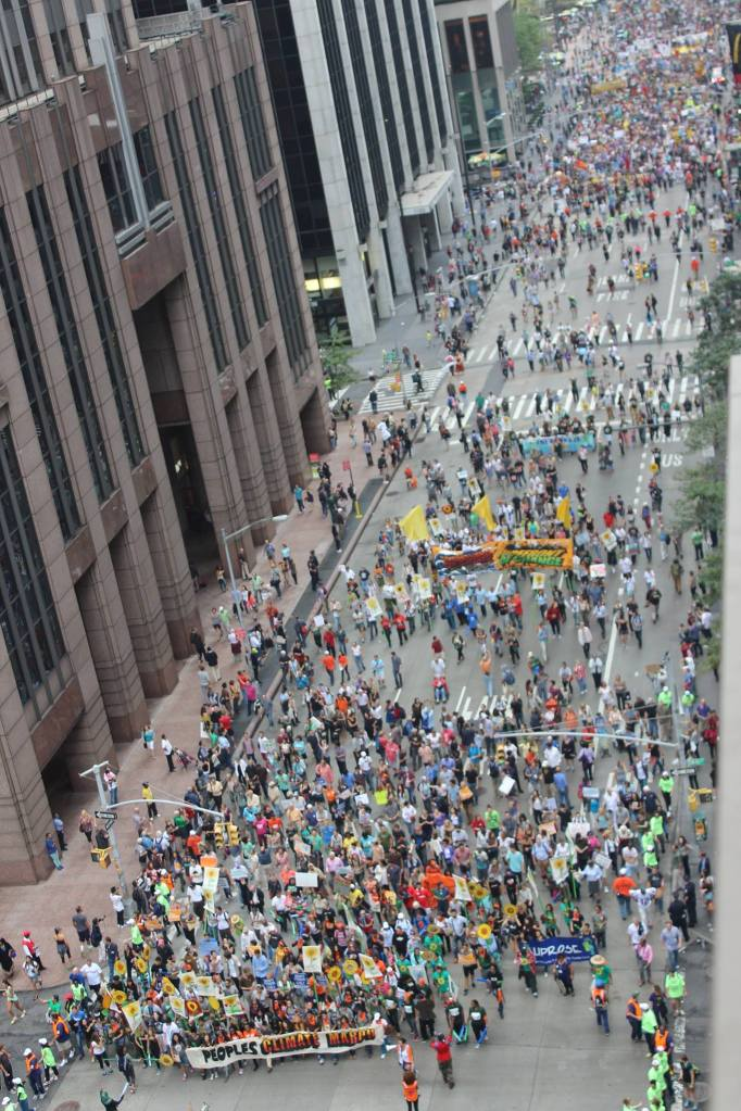 Peoples Climate March, September 21st, 2014. Photo: Yvonne Gougelet