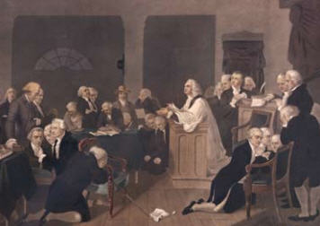 The first Congress meets in Philadelphia, 240 years ago today