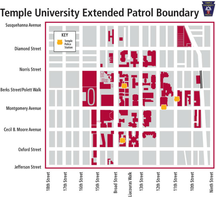 Extended patrol boundaries for Temple Police, via Temple News.