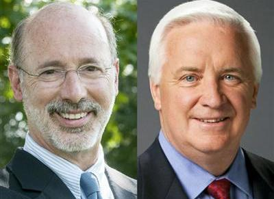 Gov. Tom Corbett and more than likely next Gov. Tom Wolf to debate this evening. Next week they come to Philly.