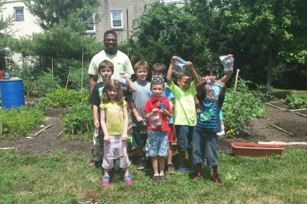 Cultivating healthy eating habits at North Philly vegetablegarden