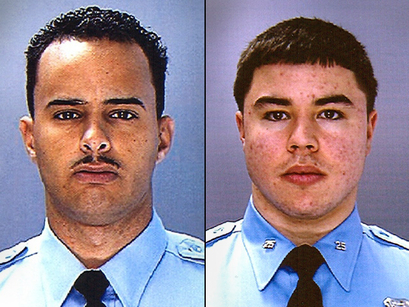 Former Philadelphia Police officers Sean C. Alivera and Christopher J. Luciano. Photo: Philadelphia Police Department