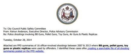 16 People Wielding Pellet, Plastic Guns Shot by Philly Police Between2007-2013