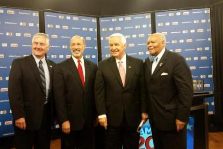 Corbett and Wolf Faced Off in Debate Today – and Media Chimes In
