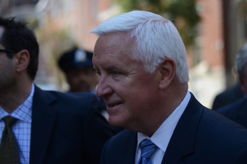Governor Corbett at the signing Tuesday. Photo by Joshua Albert