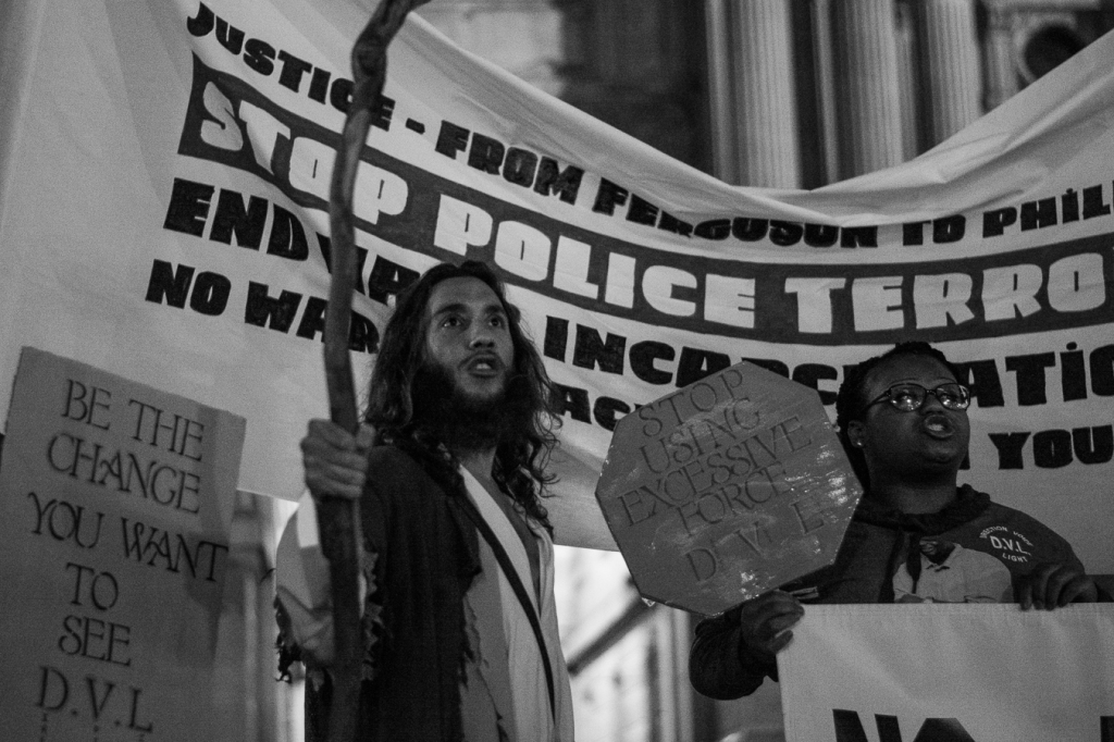 Protesters marched through several Philadelphia neighborhoods on the night of November 24th and into the early morning hours of the 25th. Photo: Joshua Albert