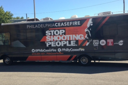 "Philadelphia Ceasefire Winnebago – ""Stop. Shooting. People"""