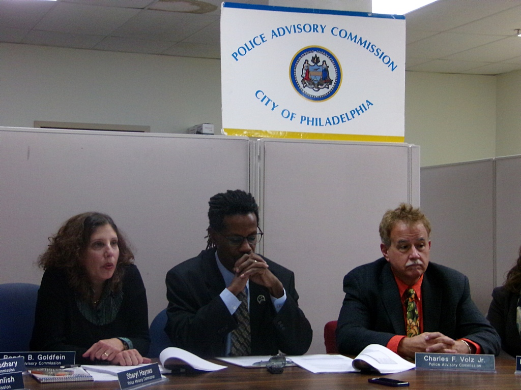 Commissioner Ronda Goldfein, Executive Director Kelvyn Anderson, Commissioner Charles Volz, Jr at the PAC office Monday night