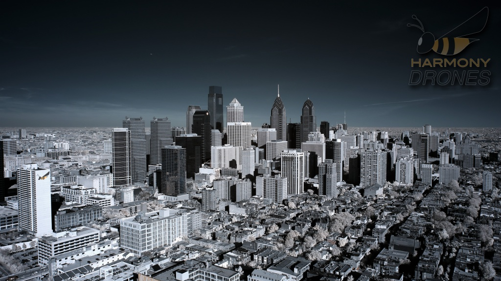 """PHILADELPHIA IN INFRARED,"" via Harmony Drones"
