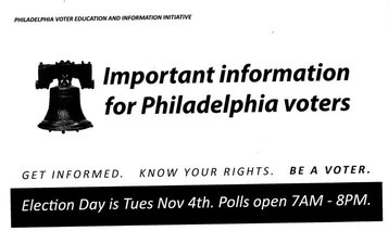 Union-Backed PAC Mails Erroneous Polling Locations to 30,000 Philly Voters