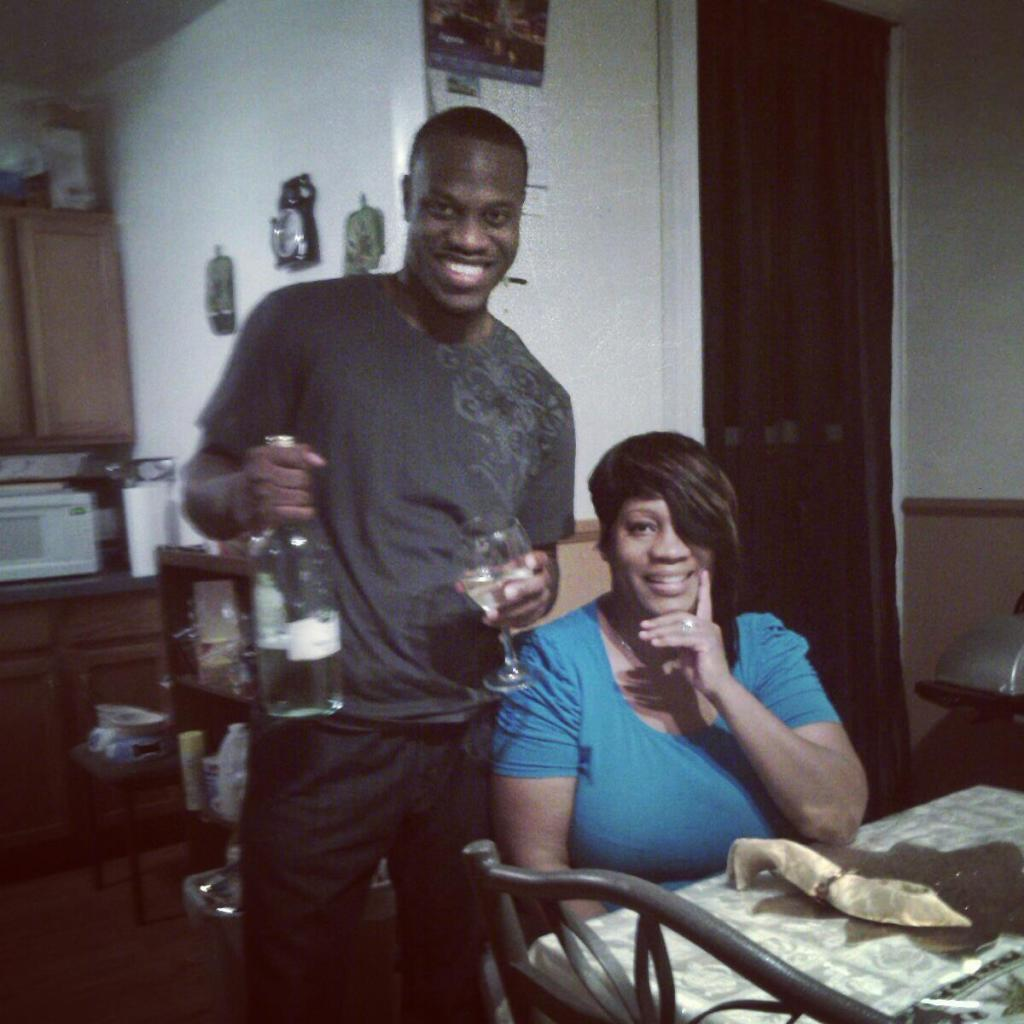 Brandon Tate Brown and mother Tanya Brown, December 2012. Photo: Tate-Brown's Facebook.
