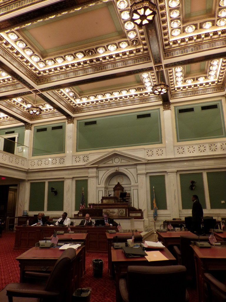City Council chambers during a public forum on officer-involved shootings held July 10 2014. Photo by Kenneth Lipp