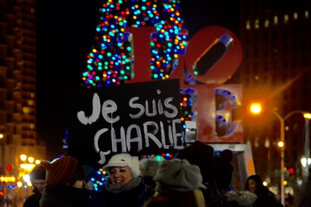 Philadelphia Rallies in Support of Charlie Hebdo Victims