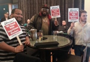 "An April 2, 2014 ""Sip In"" held by union organizers at Sugar House casino. Photo by Jini Kades"