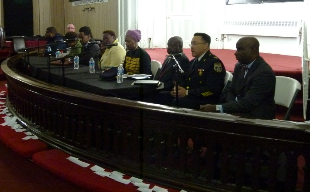 'Philly After Ferguson' panelists at Catalyst for Change Church. Photo: Joe Piette