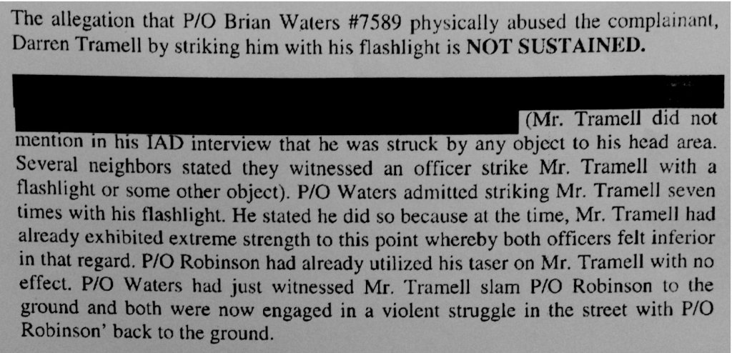 The physical abuse complaint against Waters was not sustained based on his and his partner's statements alone.