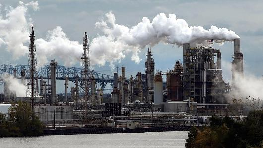 The Philadelphia Energy Solutions refinery. Photo: Getty