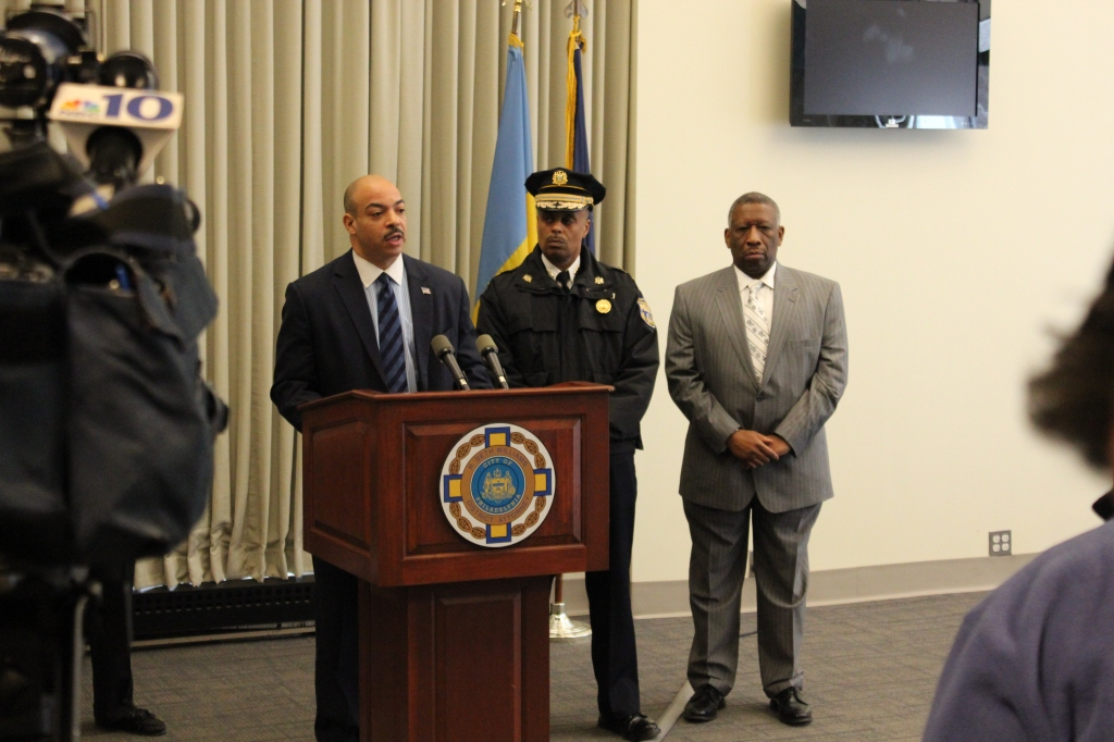 District Attorney Seth Williams this morning announcing the arrest of ICE agent Justin Ford