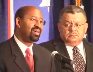 Mayor-Elect Michael Nutter and Charles Ramsey at a 2007 press conference.