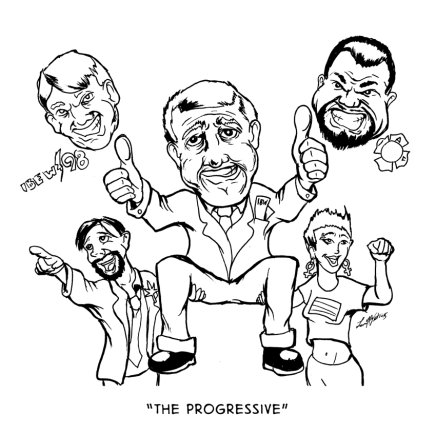 """The Progressive"" a #PHL2015 Editorial Cartoon"
