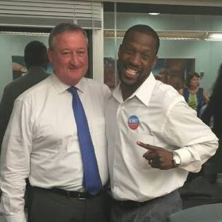 Shumpert with his Council patron, Democratic Mayoral nominee Jim Kenney. From his Facebook page.