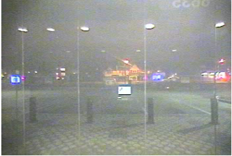 ATM video six seconds later, 2:39:34 am. Dome lights are visible behind Tate-Brown's car, and his lights are visibly dimmer.