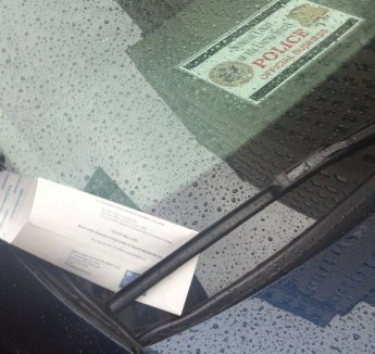 PPA tickets official US Supreme Court car being used by Justice Scalia, Oct. 15th, 2012. Courtesy of Dean Picciotti.