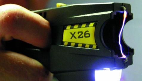Taser X26 Model. Photo by Jason Bain, licensed under Creative Commons. Original here: https://www.flickr.com/photos/88414990@N00/295015196.