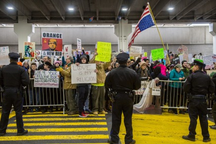 Thousands March at Philadelphia Airport Over Trump's Muslim Ban